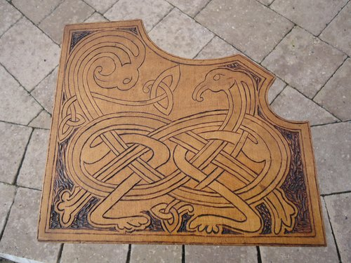 Arts & Crafts Celtic Knot book stand with words