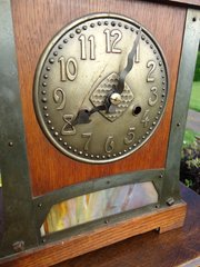 Arts & Crafts Clock with German Movement