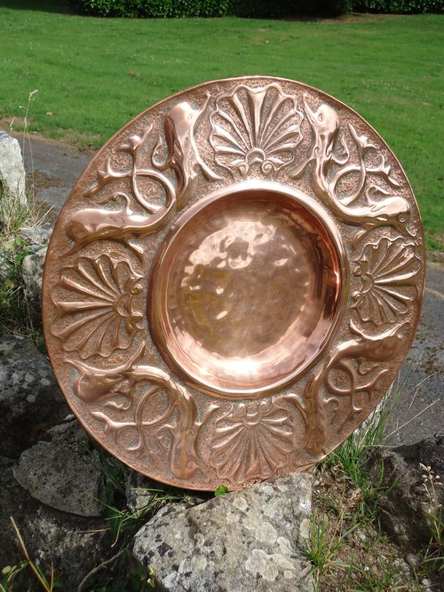 Arts & Crafts Copper Charger - Newlyn
