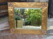 Arts & Crafts Copper mirror.