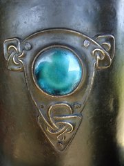 Arts & Crafts Copper planter with Ruskins