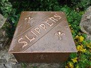 Arts & Crafts Copper slipper box