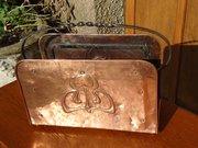 Arts & Crafts Cornish school copper magazine rack