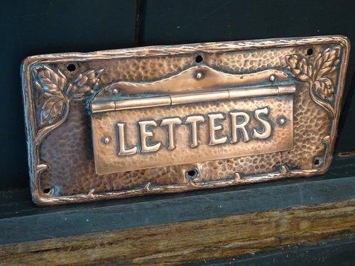 Arts & Crafts Cornish school letter box