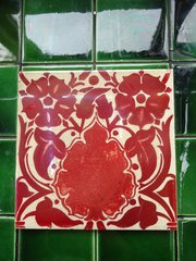 Arts & Crafts Craven Dunnill Red Lustre Tile
