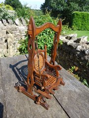 Arts & Crafts Dolls Swing with caned seat.