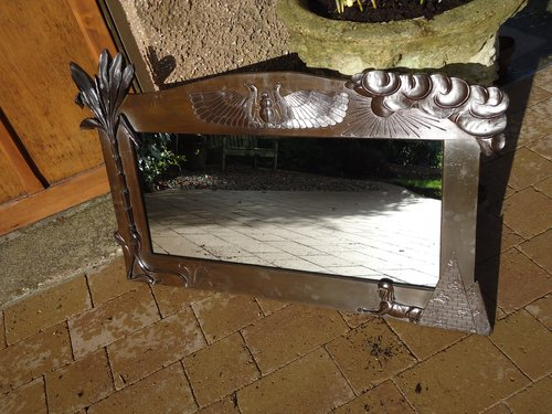Arts & Crafts Egyptian Revival mirror