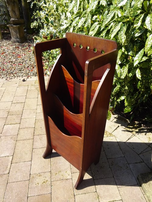 Arts & Crafts Glasgow design magazine rack