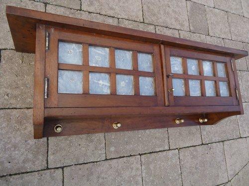Arts & Crafts Glasgow school walnut cabinet