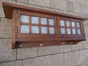 Arts & Crafts Glasgow school walnut cabinet