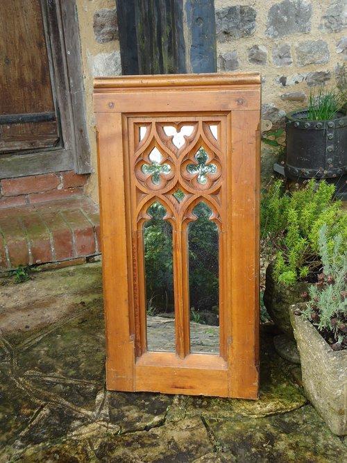 Arts & Crafts Gothic Pine mirror
