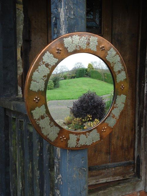 Arts & Crafts Harold Holmes butler's mirror