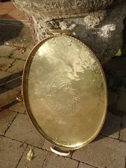 Arts & Crafts Hugh Wallis brass tray