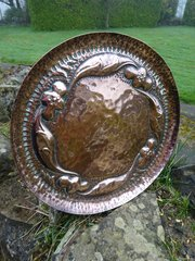 Arts & Crafts John Pearson copper charger