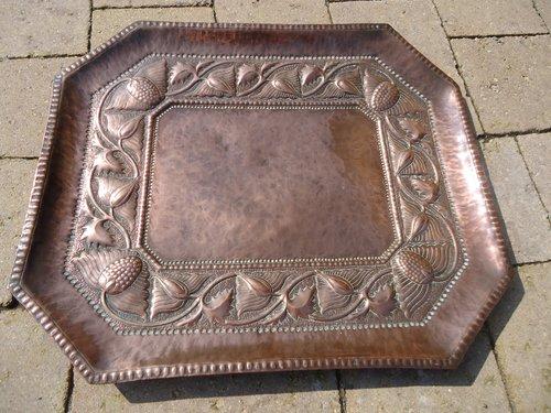 Arts & Crafts John Pearson copper tray