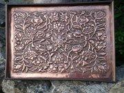 Arts & Crafts Keswick copper floral tray