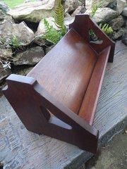Arts & Crafts Liberty oak book trough