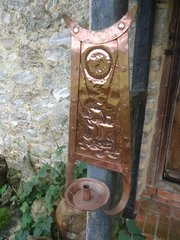 Arts & Crafts Newlyn School copper sconce