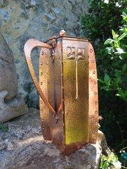 Arts & Crafts Newlyn school copper lidded jug