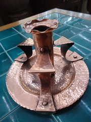 Arts & Crafts Newlyn school copper candle holder