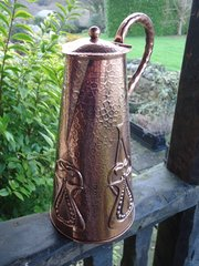 Arts & Crafts Newlyn school copper jug