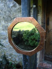 Arts & Crafts Octagonal Mirror