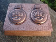 Arts & Crafts Pool of Hayle Double Inkstand