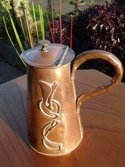 Arts & Crafts Pool of Hayle copper  jug