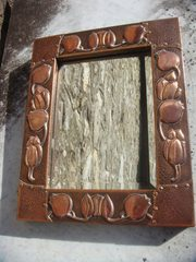 Arts & Crafts Pool of Hayle copper mirror