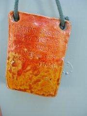 Arts & Crafts Pottery plaque - Denise Wren