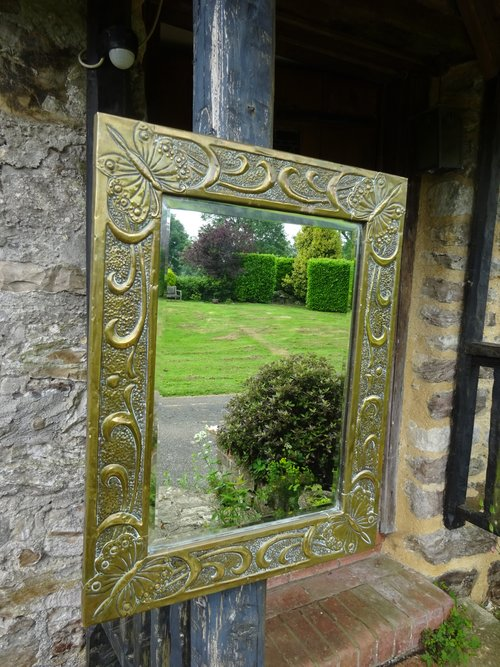Arts & Crafts Scottish school butterfly mirror