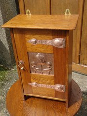 Arts & Crafts Shapland & Petter oak cupboard