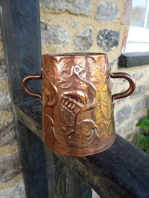 Arts & Crafts Yattendon copper vase