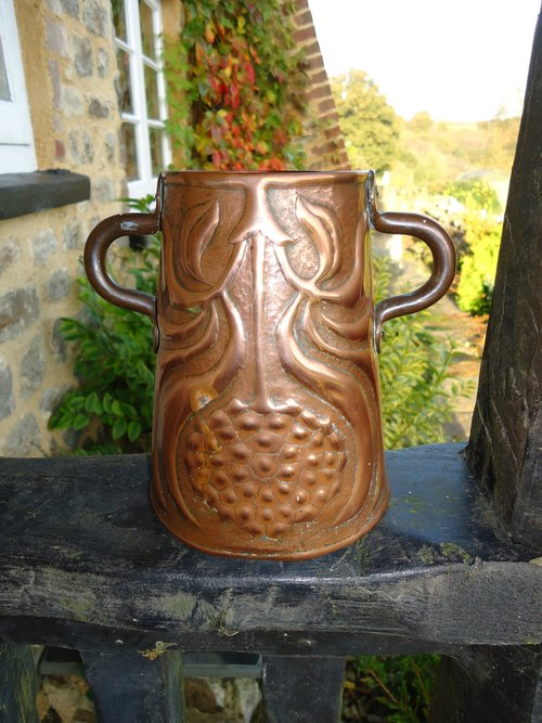 Arts & Crafts Yattendon two handled copper vase