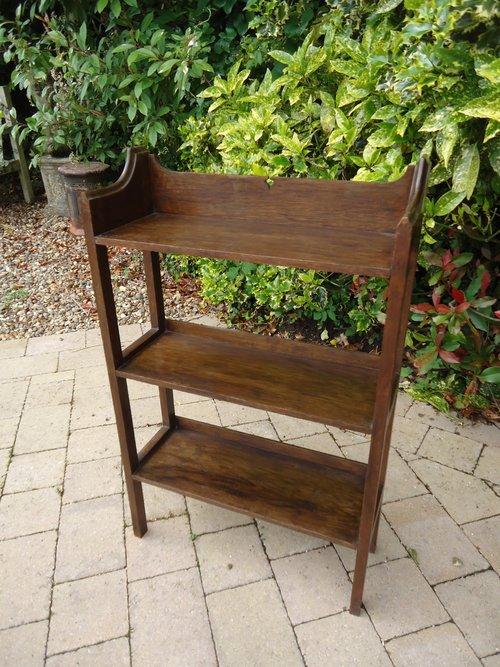 Arts & Crafts  Heals oak book shelves