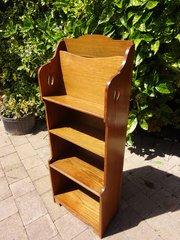 Arts & Crafts bookcase magazine rack