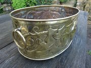Arts & Crafts brass planter or wine cooler