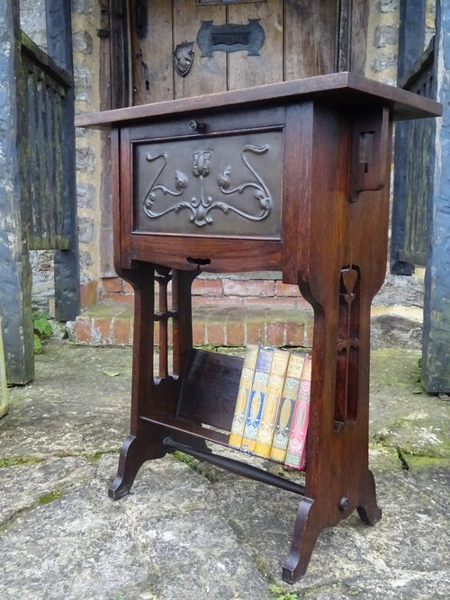 Arts & Crafts cabinet with bookstand