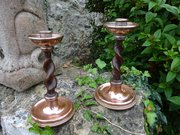 Arts & Crafts candlesticks - A.E.Jones