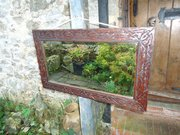 Arts & Crafts carved mirror. Macclesfield
