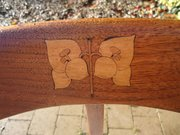 Arts & Crafts chair with inlay by J.S. Henry