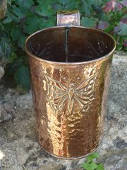 Arts & Crafts copper Butterfly vase