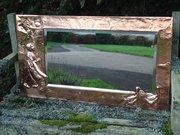 Arts & Crafts copper Goose Girl Over mantle