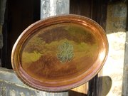 Arts & Crafts copper  Hugh Wallis tray