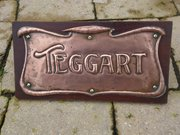 Arts & Crafts copper door plate - Teggart