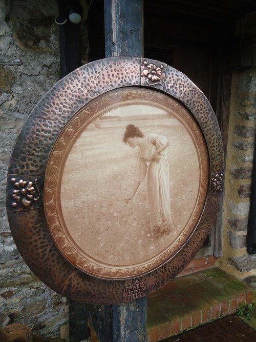 Arts & Crafts copper framed print - Flowers
