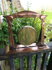 Arts & Crafts copper gong. J & F Pool of Hayle
