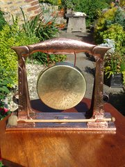 Arts & Crafts copper gong - Pool of Hayle
