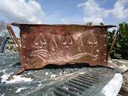 Arts & Crafts copper jardiniere. Planter