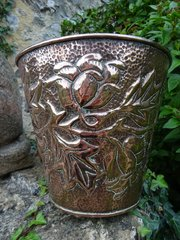 Arts & Crafts copper jardiniere. John Williams